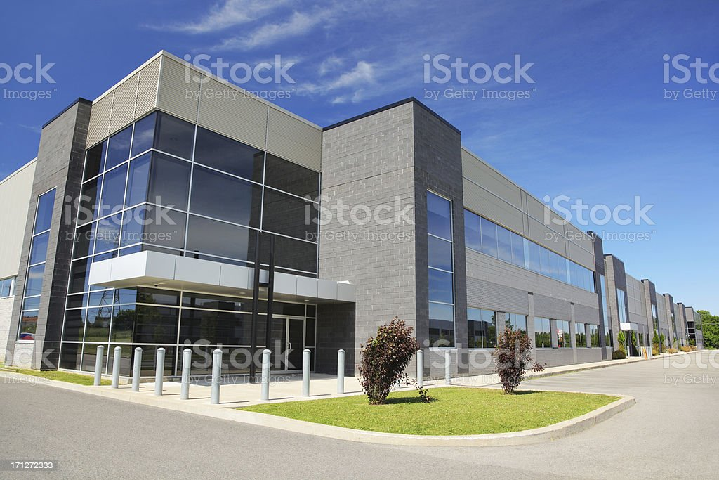Large Modern Industrial Building stock photo