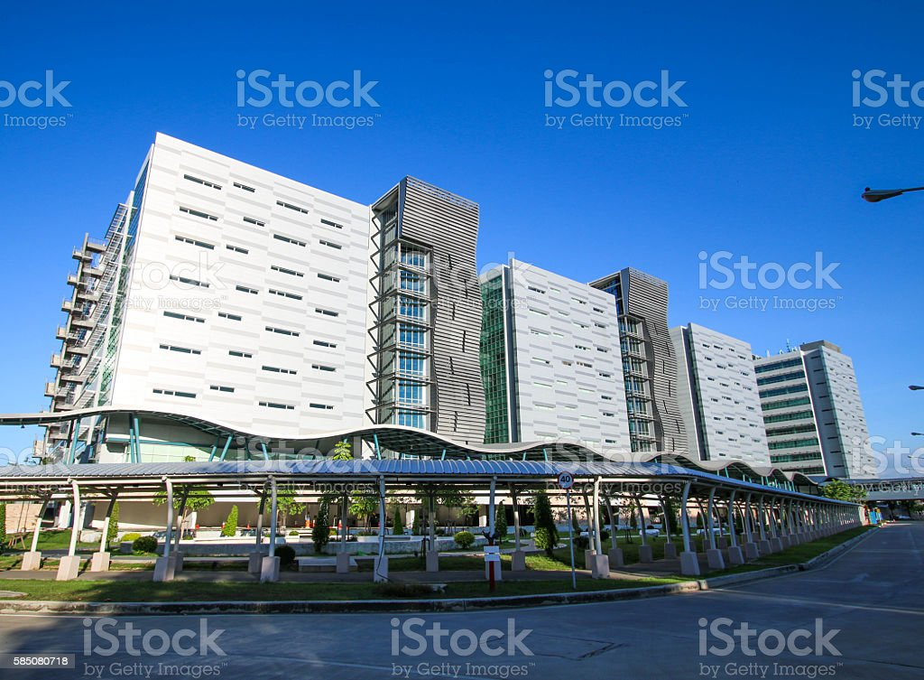 Large modern office building. stock photo