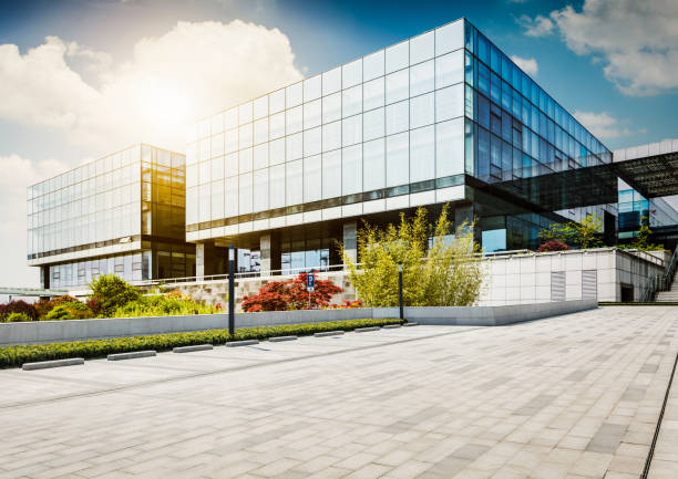 large modern office building - building exterior stock photos and pictures