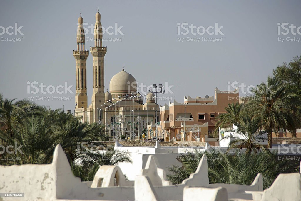 A large mosque in Ghadames, Libya stock photo