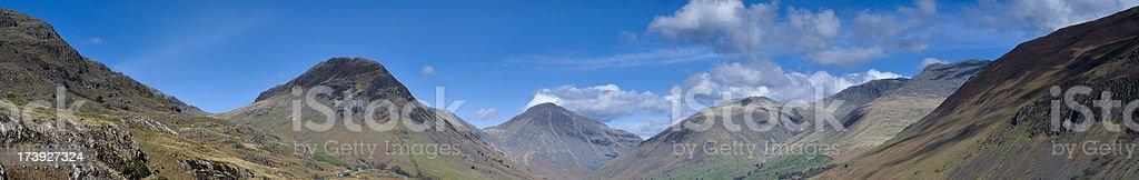 Large Mountain Panorama stock photo