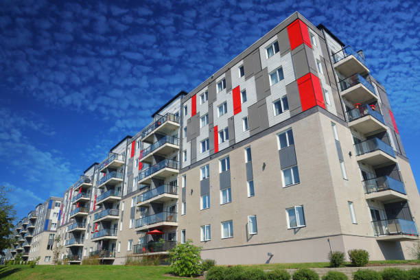 Large Multi-Condos Building Block stock photo