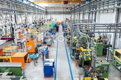 istock Large new factory 505088136