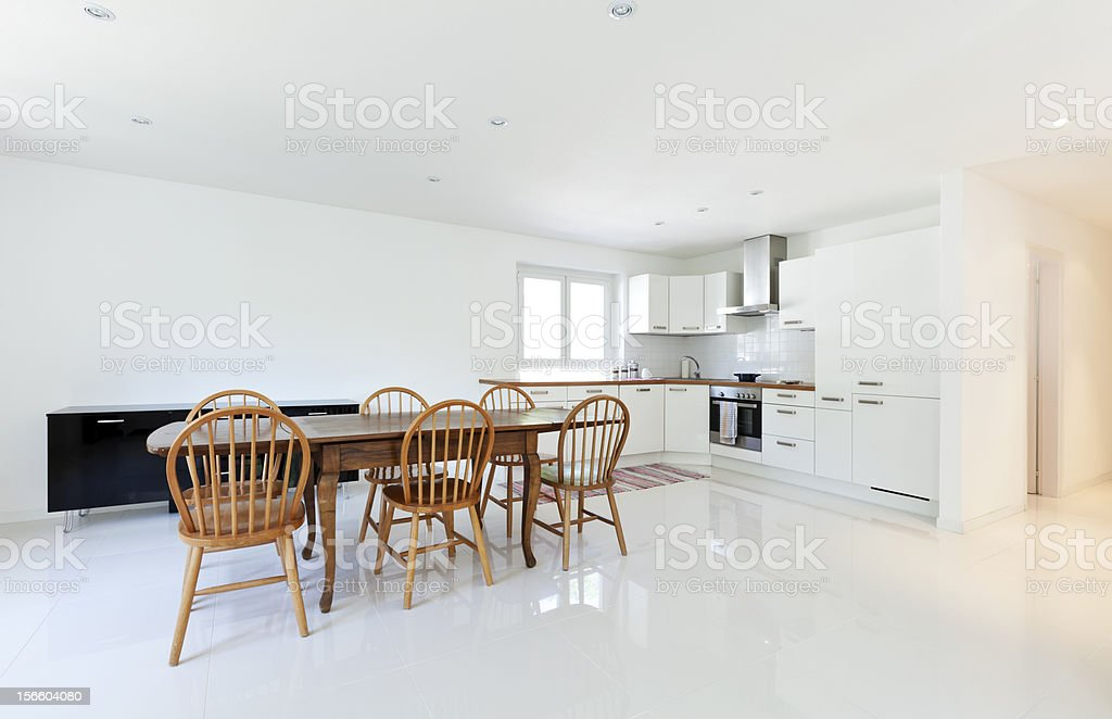 large new kitchen royalty-free stock photo