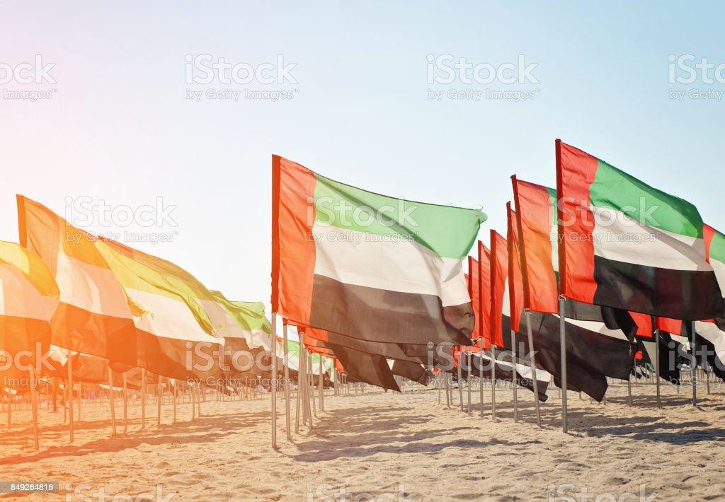 아랍에미리트의 국기의 다 수 - 로열티 프리 12월 스톡 사진