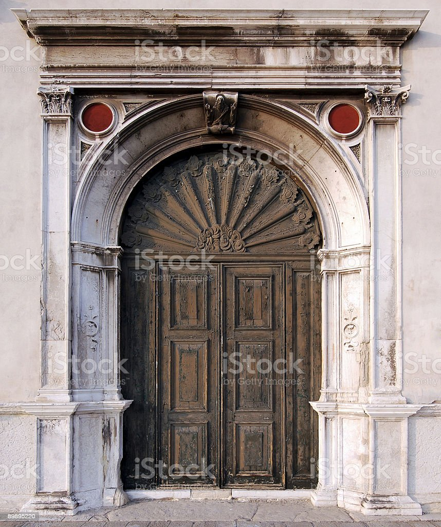 Large old door royalty-free stock photo
