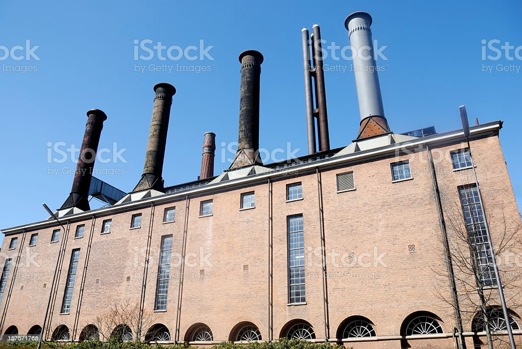 Large old factory building royalty-free stock photo