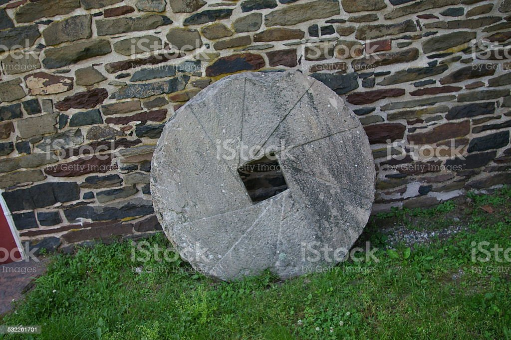Large Old Mill Stone stock photo