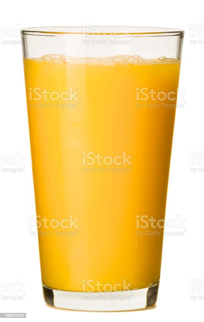 Large Orange Juice Pint Isolated on White Background stock photo