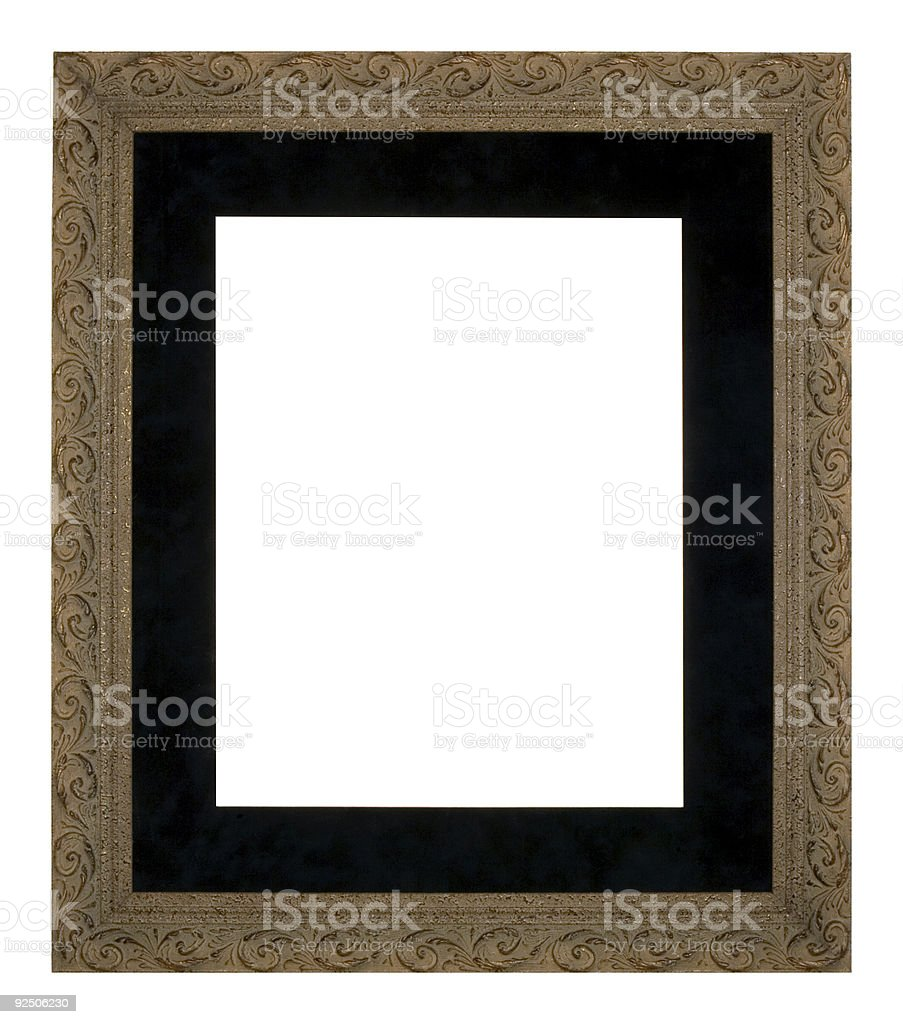 Large Ornate Picture Frame, Old Gold royalty-free stock photo