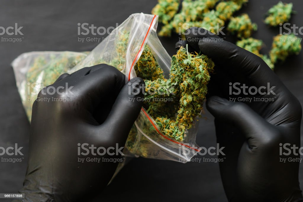 Large Package weed cannabis - Royalty-free Addiction Stock Photo
