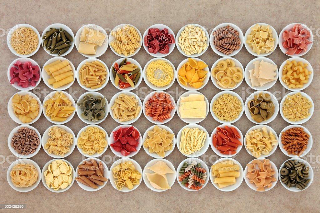 Large Pasta Spaghetti Selection stock photo