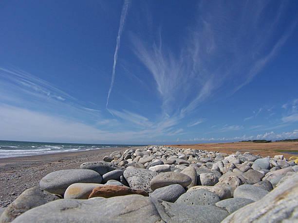 Large Pebble Beach stock photo