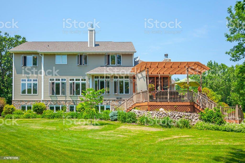 Photo De Grande Ideal A La Maison Avec Terrasse Couverte Le Pergola