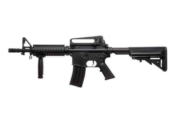 Large picture of an isolated weapon AR-15 Large picture of an isolated weapon AR-15 ar 15 stock pictures, royalty-free photos & images