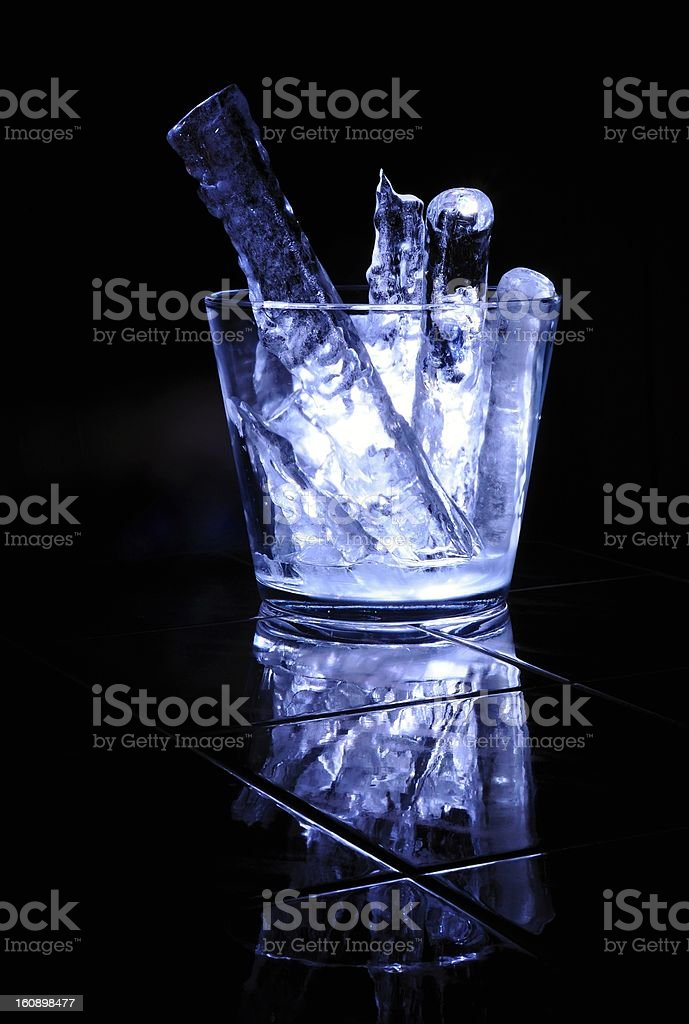 Large pieces of ice royalty-free stock photo