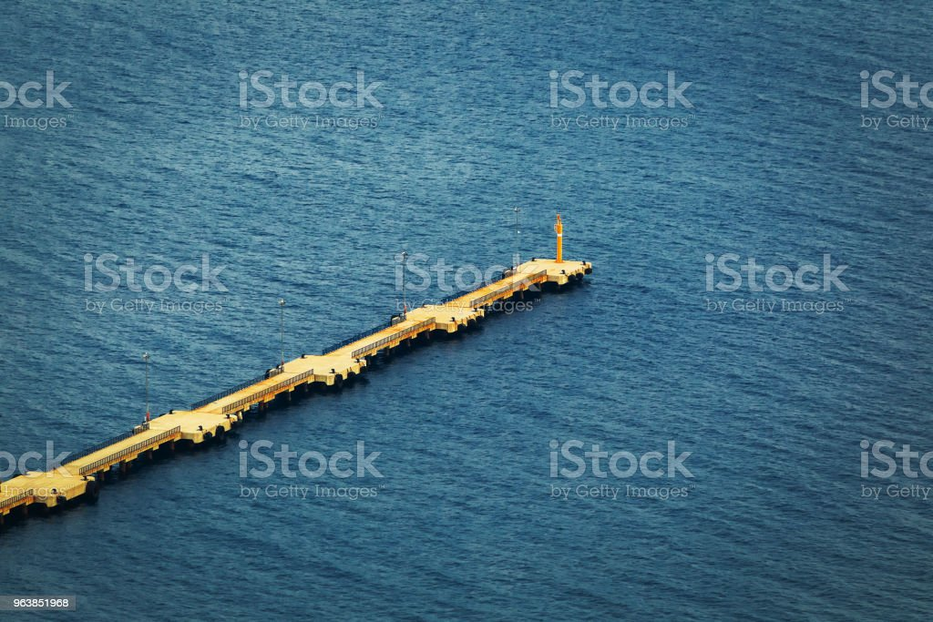 large pier from the top view - Royalty-free Architecture Stock Photo