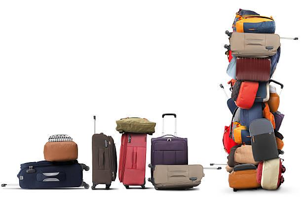 Große Haufen von Taschen – Foto