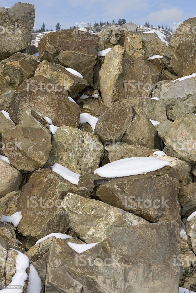 Large Pile of Boulders royalty-free stock photo
