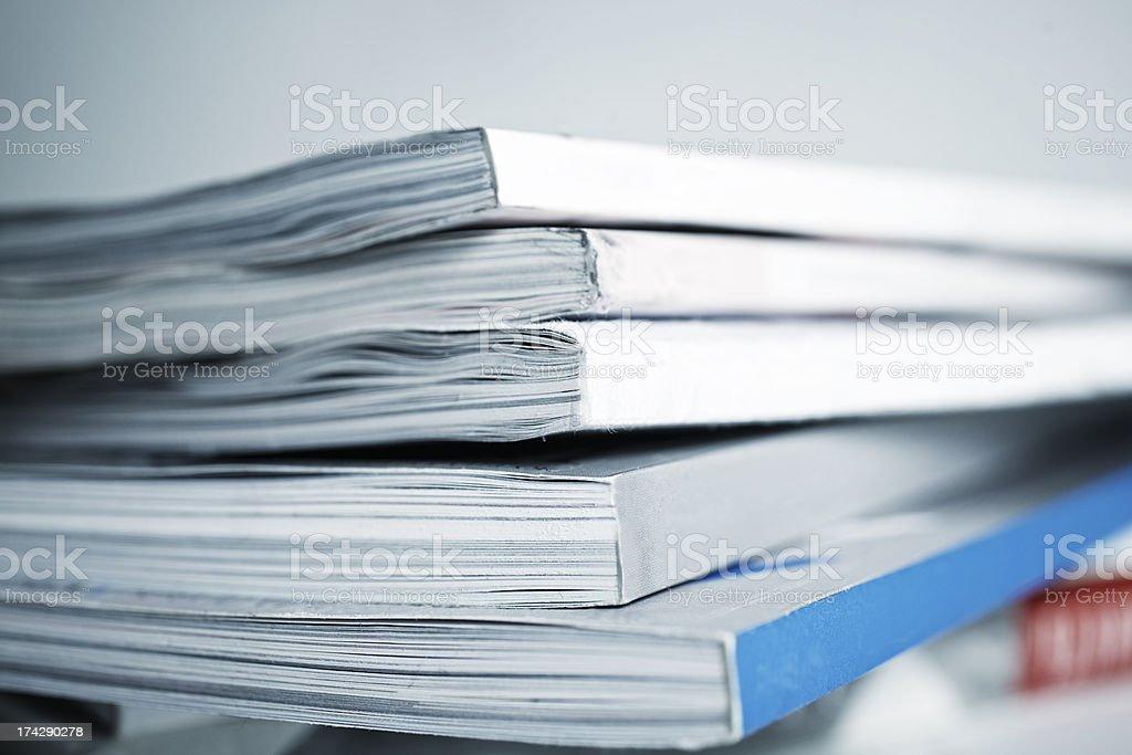 large pile of magazine closeup large pile of old magazine closeup Stack Stock Photo
