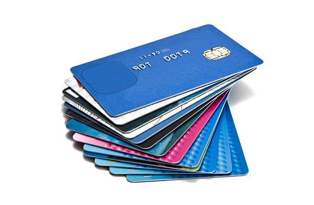 Kreditkarten auf einem Stapel – Foto
