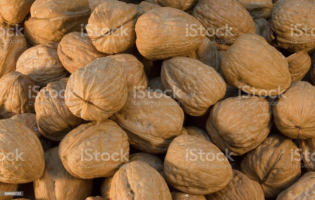 Large Pile of Walnuts royalty-free stock photo