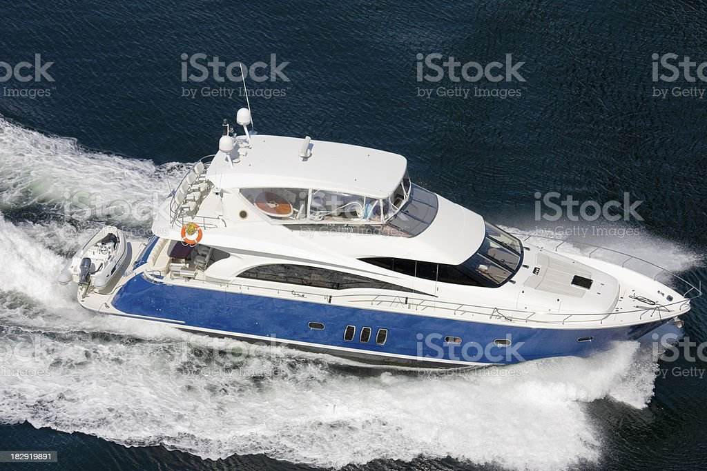 Large power boat. royalty-free stock photo