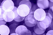 Large purple bokeh background, 2018 Color of the Year