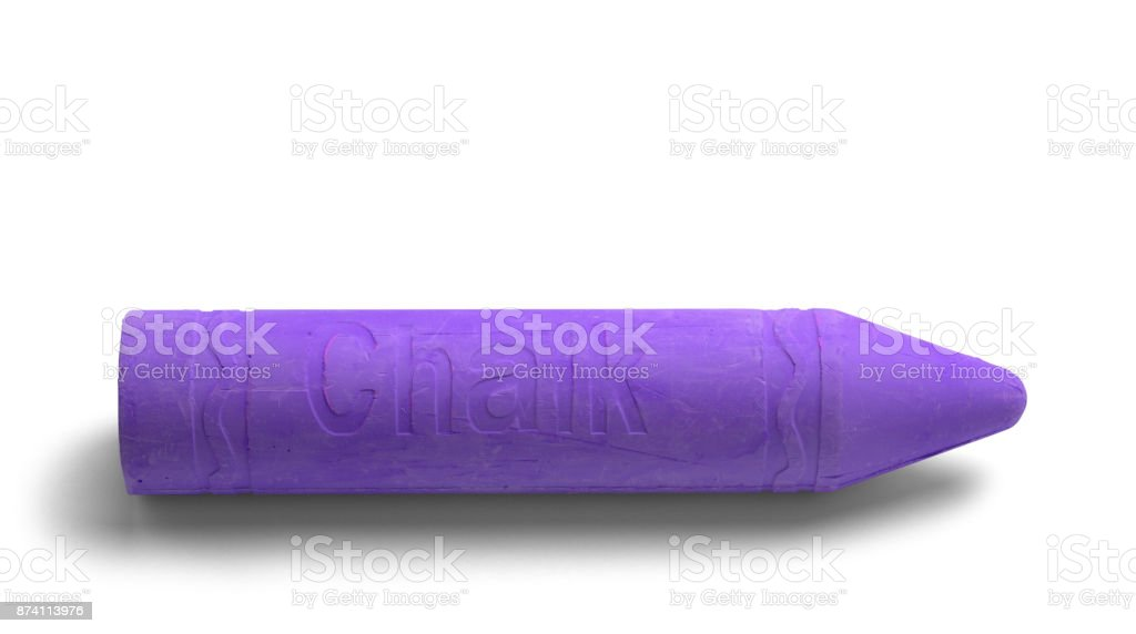 Large Purple Chalk stock photo