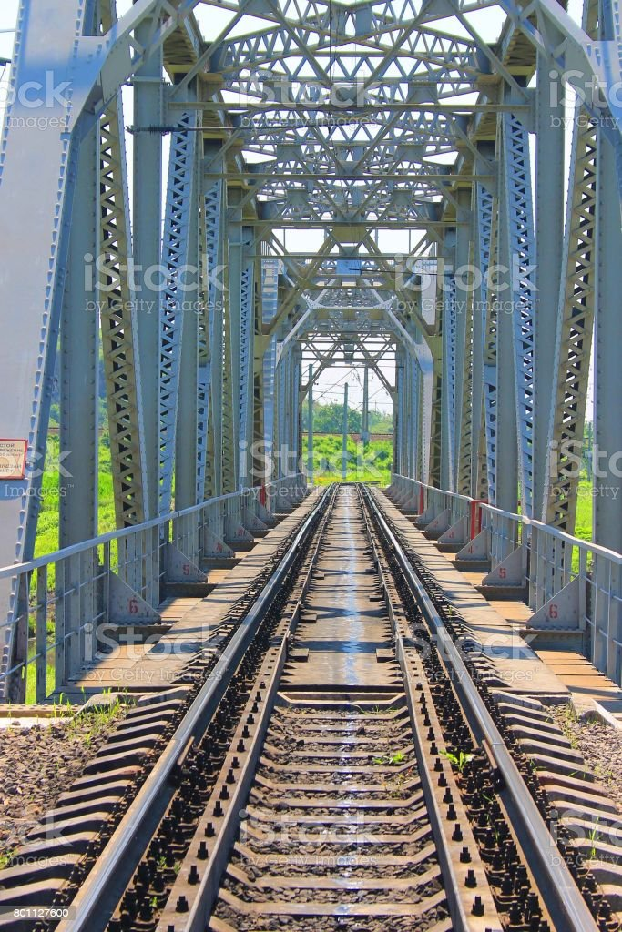 Large railway bridge stock photo