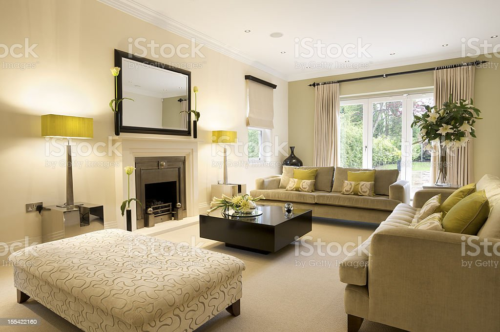large reception room stock photo