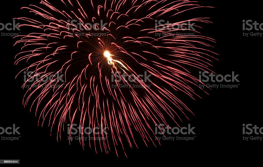 Large Red Fireworks Burst royalty-free stock photo