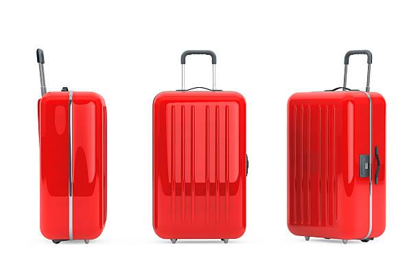 Große rote Polycarbonat Koffer – Foto