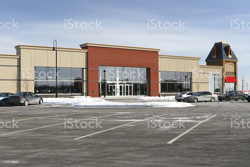 Large Retailer Store in Winter royalty-free stock photo