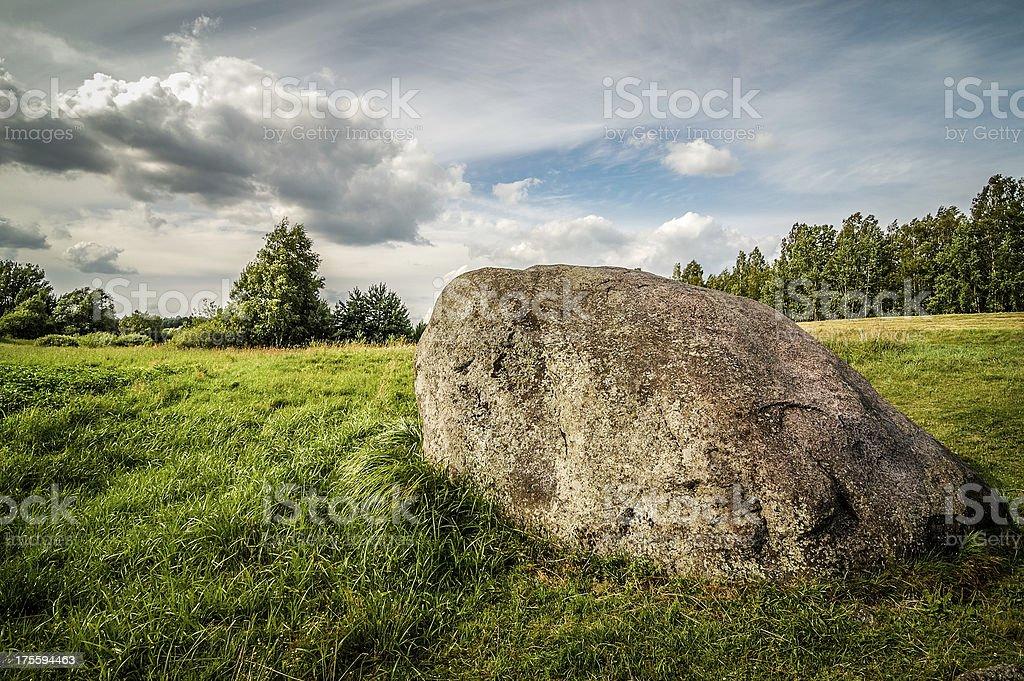 Large rock royalty-free stock photo