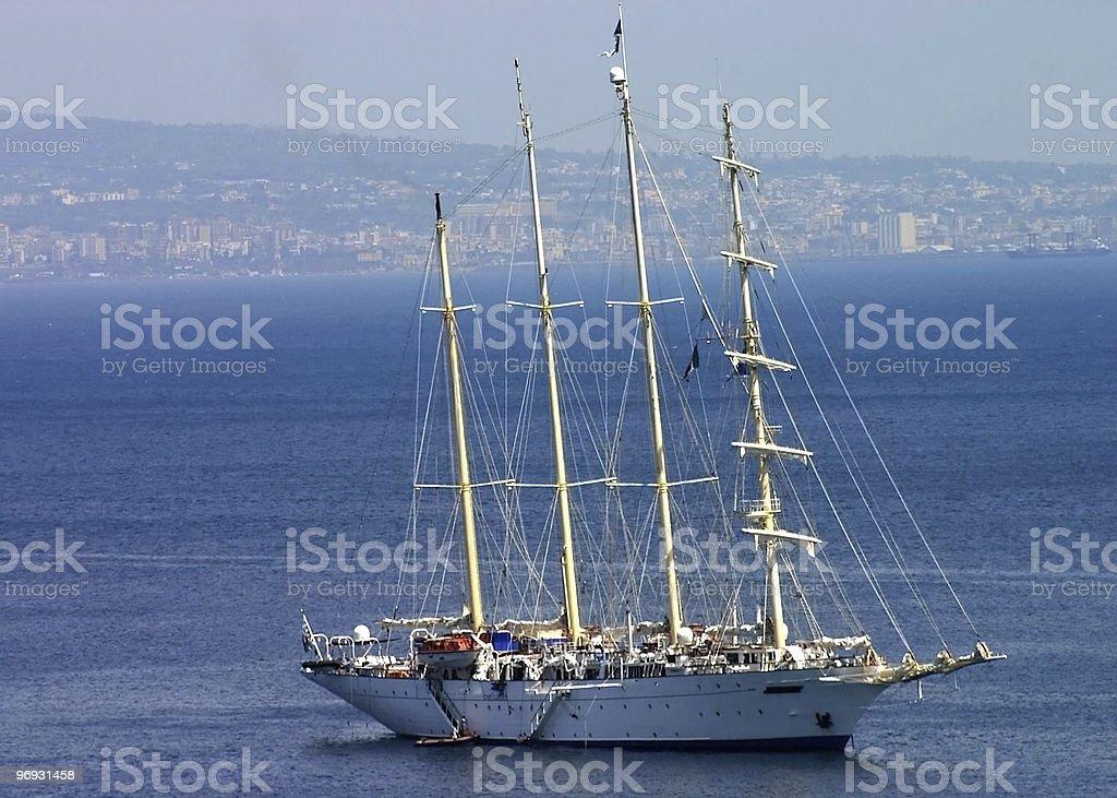 Large sailboat royalty-free stock photo