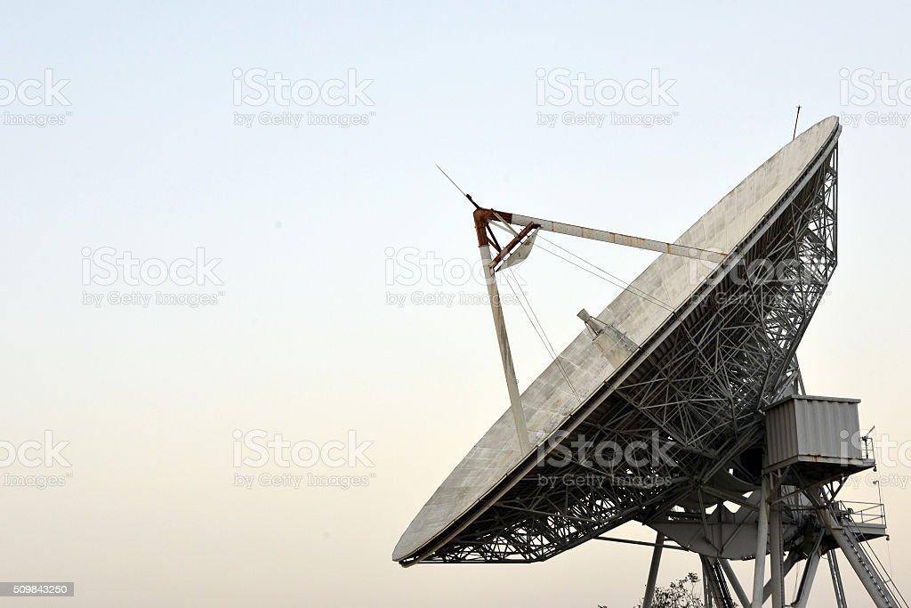 Large Satellite Dish in Thailand stock photo