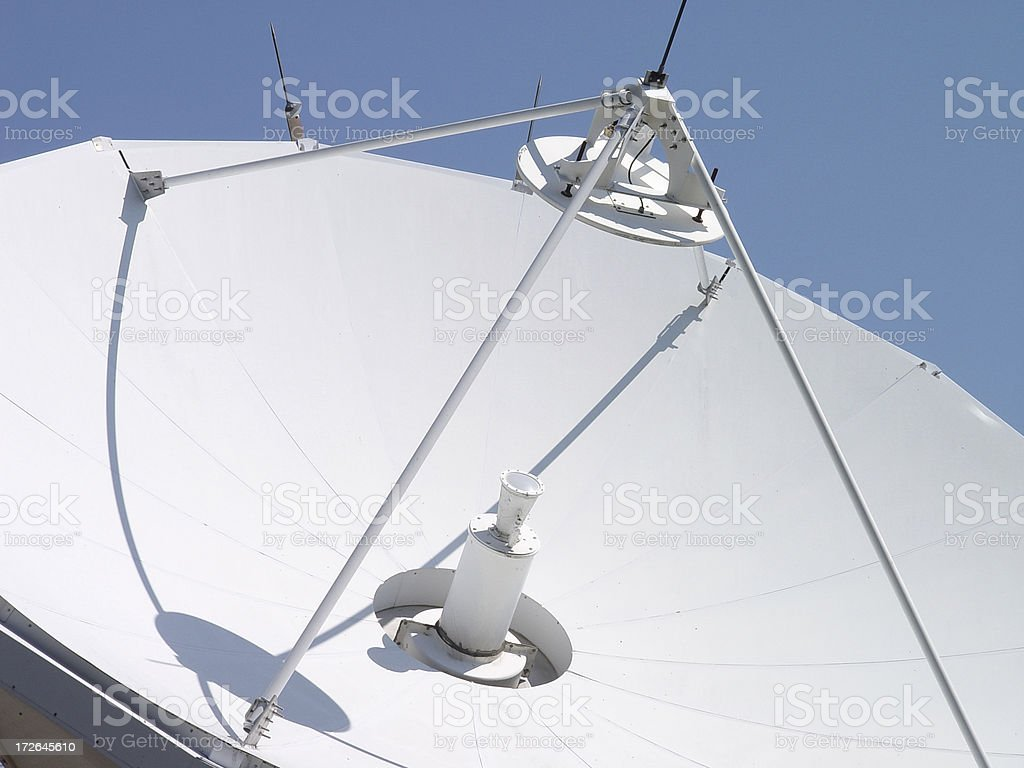 Large Satellite Dish royalty-free stock photo