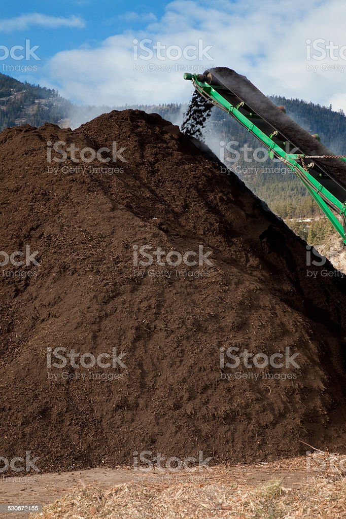 Large Scale Compost Pile stock photo