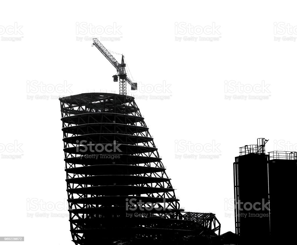 Large Scale Construction in Outline royalty-free stock photo