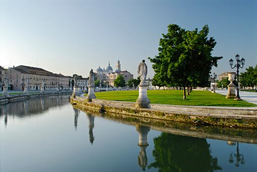 Large scenic Prato Della Valle in Padua Padova Italy