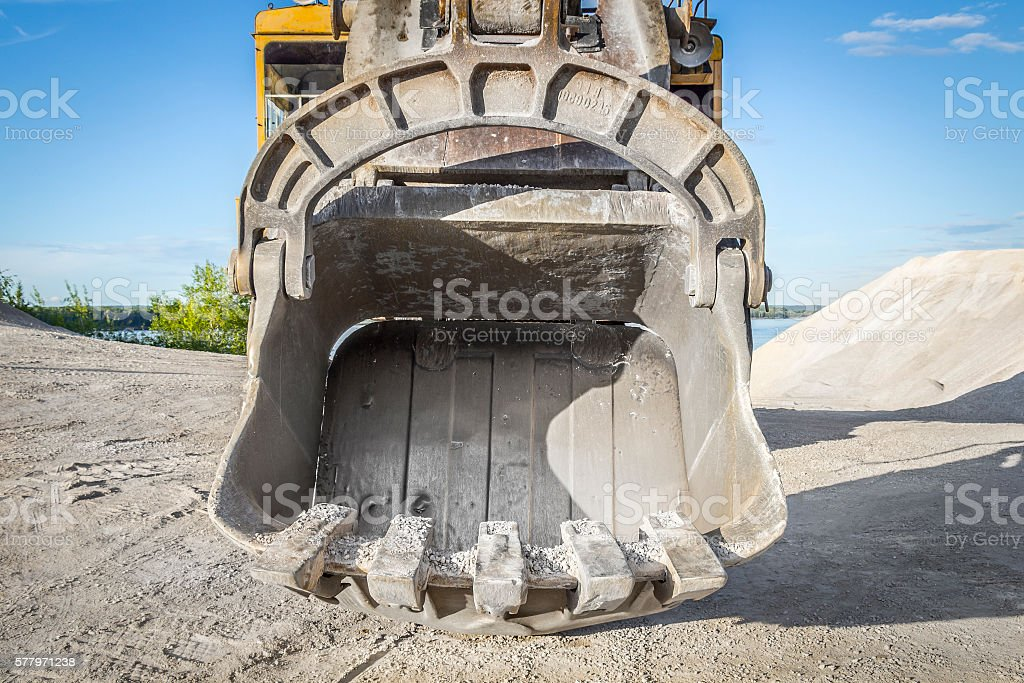Large scoop closeup stock photo