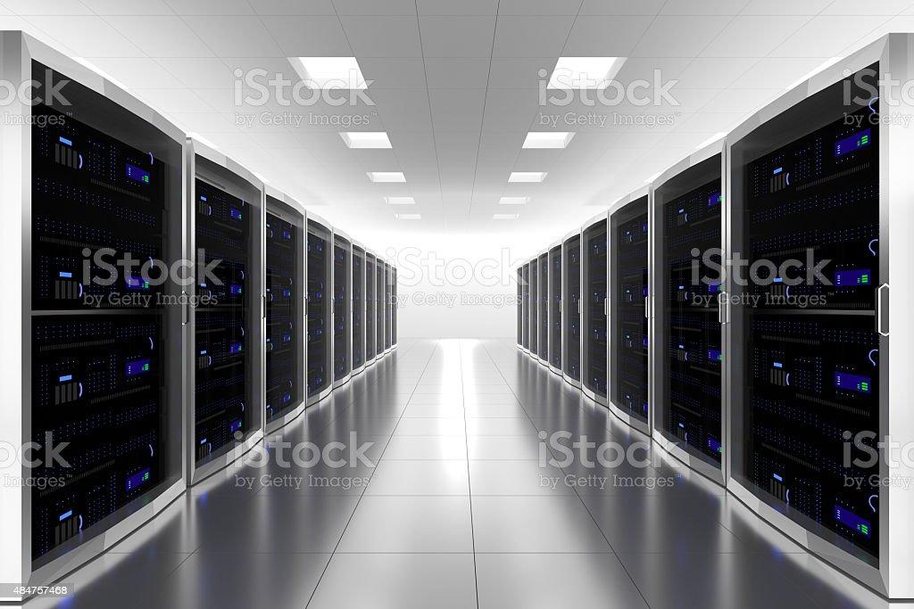 large server room datacenter internet illustration stock photo