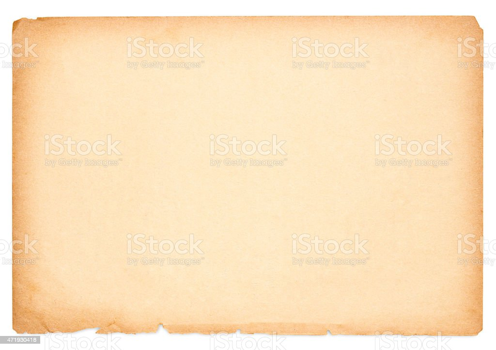 Very A Large Sheet Of An Old Piece Of Paper Stock Photo & More Pictures  ZT67