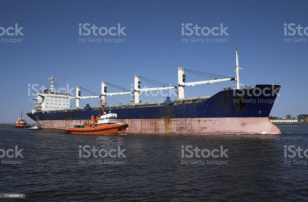 Large ship in harbour royalty-free stock photo