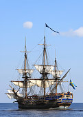Scenic view of sailing ship at the Baltic Sea