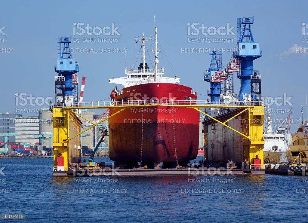 Large Shipyard Operation stock photo