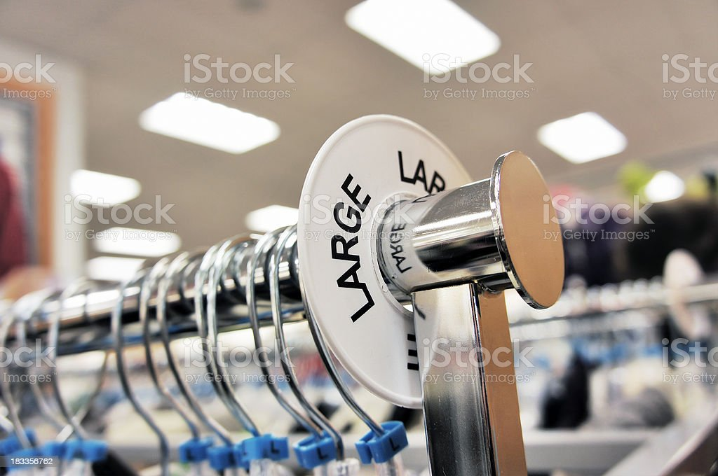 Large size sign in clothing store