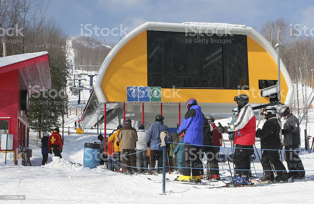Large Ski Lift royalty-free stock photo