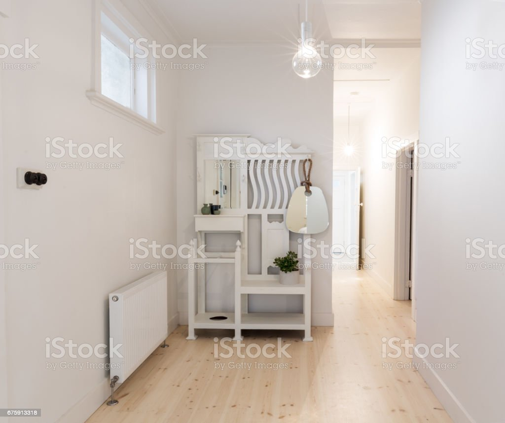 Cheap Spacious Apartments: Large Spacious Entry Foyer In Beach Style Apartment Stock